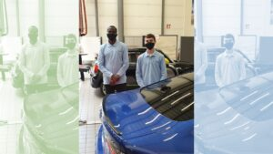 Théo et Abdourahmane, 2 apprentis du CFA AFORPA en finale nationale du challenge école BMW