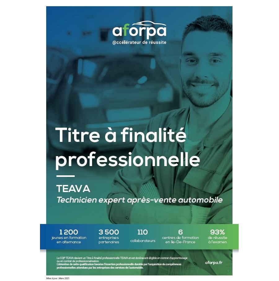 TFP TEAVA - Technicien Expert Après-Vente Automobile
